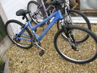 TWO CLAUD BUTLER LADIES MOUNTAIN BIKES EXCELLENT £110 FOR BOTH OR WILL SPLIT ,bike ,cycle