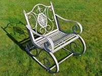 Metal/Steel Garden Rocking Chair In Antique