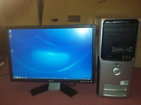 "Desktop Computer / PC With 22"" Monitor - Good Spec - SSD - 4GB RAM - Free Delivery"