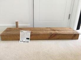 """Beautiful Medium Oak shelf 12"""" deep 120 long"""