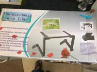multifunction laptop table with fan