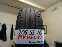 4 of 205 55 16 MICHELINS 6MM TREAD £25 EACH SUPP & FITD OPEN 7-DAYS TIL 5PM (LOADS MORE AV TXT SIZE
