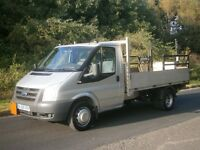 2009(59) Ford Transit T350 MWB 115 6spd, DROPSIDE PICK UP ALLOY BODY TAIL-LIFT, ONE OWNER, NO VAT!!!