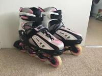 Roller blades. Adjustable size 3-6.