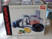 Morphy Richards compact food processor No 48900. PRICE DROP