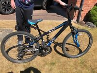 Boys Trek bicycle Black and Blue - MT Track 24 inch
