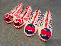 Traditional greek woolen slippers (lightly used)
