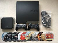 Sony PS3 Slim 120gb, Two Wireless Controllers, all cables and 12 Games (unboxed)