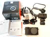Sony a6300 camera (body) black, used, excellent condition as new, plus extra batteries and charger