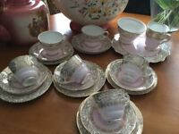 Vintage Royal Stafford China Tea Set Excellent Condition