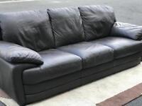 Dark Brown Leather Suite (@07752751518)
