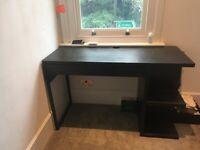 Used black desk with storage