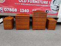 Rossmore wood chest of drawers £70 a piece bedside lockers £25 a piece