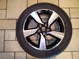 Quashgai 18 inch alloy and tyre