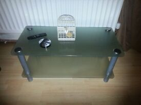 Glass coffee table used in good condition