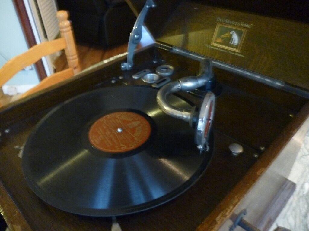 Vintage Original Hmv 103 His Masters Voice Table Top Portable Oak Wood 78 Speed Gramophone In Harrow London Gumtree