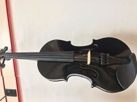 full size black violin