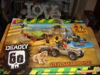 DEADLY 60 STEVEN SAFARI PLAYSET LEGO