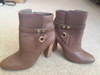 Ladies leather Design Lab boots size 6