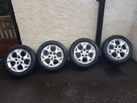 """5 stud 16"""" alloy wheels from vauxhall astra"""