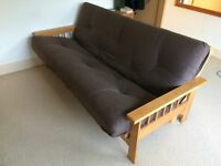 Cavendish 3 Seater Oak Futon Sofa bed - Used but in excellent condition, collection only
