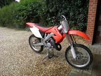 2007 Honda CR125 Motocross Bike and Trailer.