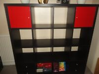 IKEA shelving unit KALLAX 147x147cm (black)
