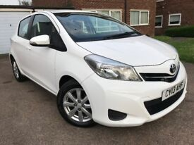 TOYOTA YARIS 2013 WHITE** 1 LADY OWNER**REVERSE CAMERA**BLUETOOTH**2 KEYS**LONG MOT**HPI CLEAR**