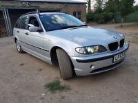 2003 BMW 3 SERIES 320D ESTATE SILVER