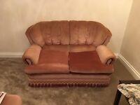 2 seater sofa bed and 2 armchair sofas (free)
