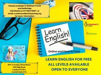 ENGLISH CLASSES FOR ALL - FREE