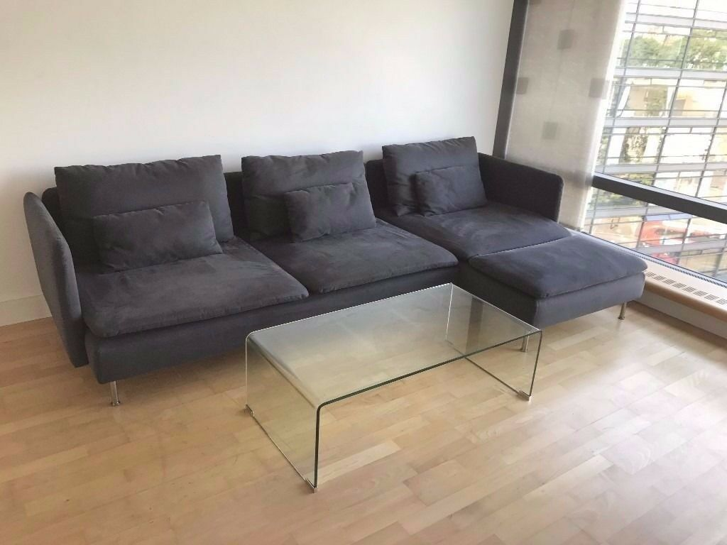S 214 Derhamn Ikea Sofa Bed Samsta Dark Grey Soderhamn In