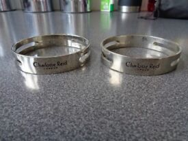 2 CHARLOTTE REID designer SMALL BRACELETS ,ideal gifts ect ,will post £8 ,ieal speial present