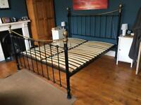Superking size bed frame.