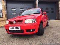 VW Polo 1.0L 56K Miles, 10 Months MOT, Red