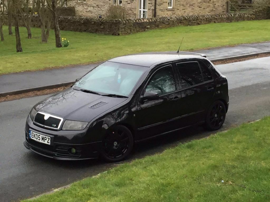 2005 skoda fabia 1 9 tdi vrs metallic black bigbhp 209 very fast in headingley west yorkshire. Black Bedroom Furniture Sets. Home Design Ideas