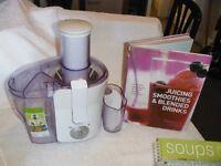 Philips Juicer, Tefal Yoghurt Maker and nine cookbooks.