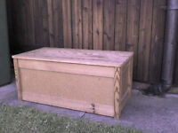 Wooden Storage Toy Box with wooden lid & frame