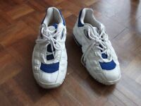 Puma Cell white and blue trainers, size 6 and a half.