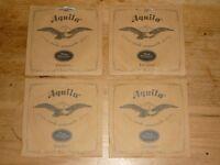 4 packs AQUILA NYLGUT UKULELE STRINGS 4U - new sealed, SOPRANO A E C G
