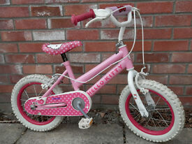 """Hello Kitty"" Girls 14"" Bike, Good Condition, Ages 4-6."