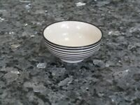 Black and White Stripe Mini Dip / Dipping Bowl - Set of 2 - IB Laursen Casablanca Danish Design*NEW*