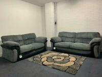 Pending Beautiful grey Corded sofas 3&2 delivery 🚚 sofa suite couch furniture