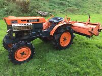 Kubota B7000 4WD Compact tractor with Rotavator (other Attachments available)