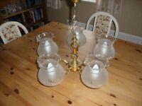 Brass effect pendant light
