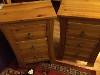 Pair of bedside tables/units