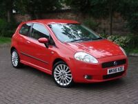 EXCELLENT SPEC! 2006 FIAT GRANDE PUNTO 1.4 16v SPORTING 3dr, 6 SPEED LONG MOT, ONLY 63000 WARRANTY
