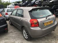 TOYOTA COROLLA TSPORT VVTLI 2003 5 DOOR HATCHBACK- FOR PARTS ONLY