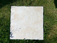 Never used ceramic light pink floor tiles 31x31cm