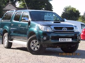 09/09 TOYOTA HILUX HL3 3.0 TD DOUBLE CAB PICK UP WITH CANOPY AND LEATHER SCARCE TRUCK